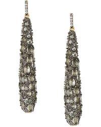 Freida Rothman - Gilded Cable Pebble Drop Earrings - Lyst