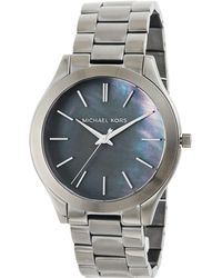 MICHAEL Michael Kors - 42mm Slim Runway Gunmetal Watch - Lyst