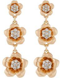 Lydell NYC - Three-flower Dangle Earrings - Lyst