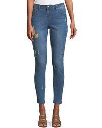 Velvet Heart - Hummingbird-embroidered Skinny Jeans - Lyst