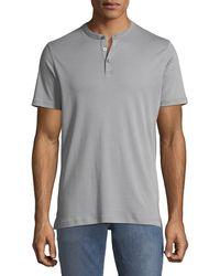 Robert Barakett - Men's Jefferson Three-button Henley Shirt - Lyst