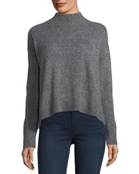 Lisa Todd - Mock-neck Mousse Pullover Sweater - Lyst