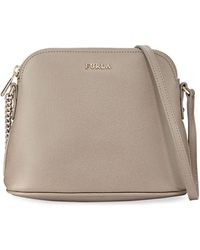 bf74c8a9a0a3 Lyst - Furla Small Leather Crossbody Bag in Natural