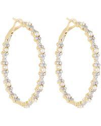 Jude Frances - Provence 18k Diamond & Pearl Hoop Earrings - Lyst