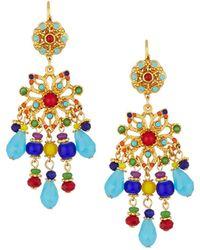 Jose & Maria Barrera - Multicolor Starburst Chandelier Earrings - Lyst
