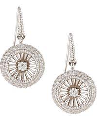 Roberto Coin - 18k Art Nouveau Diamond Earrings - Lyst