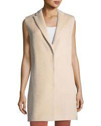 Brunello Cucinelli - Alpaca-blend Sleeveless Coat Vest - Lyst