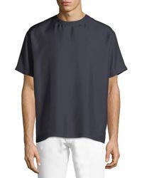 Valentino - Silk Crewneck Short-sleeve Tee - Lyst