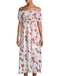 Endless Rose - Darling Poppy Off-the-shoulder Maxi Dress - Lyst