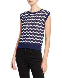 80fea0b6615e26 EVIDNT - Wavy Striped Knit Pullover Vest - Lyst