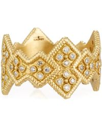 Armenta | Sueno 18k Wide Crivelli Band Ring W/ Diamonds | Lyst