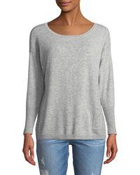 Neiman Marcus - Cashmere Pompom Button-back Sweater - Lyst