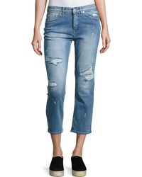 Cheap Monday   Level Distressed Cropped Jeans   Lyst