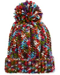 Neiman Marcus - Multicolor Knit Beanie With Pompom - Lyst