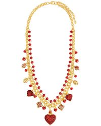 Jose & Maria Barrera - Cinnabar Beaded Charm Necklace - Lyst