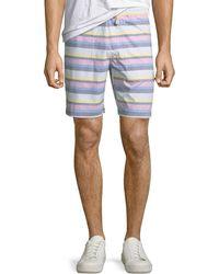Original Penguin - Men's Striped Pull-on Shorts - Lyst