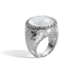 John Hardy - Batu Palu Silver Ring With Moon Quartz Size 7 - Lyst