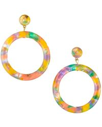 Lele Sadoughi - Marquis Front-hoop Earrings Multi-pastel - Lyst