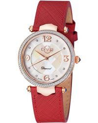 Gv2 - 37mm Sassari Leather Diamond Watch - Lyst