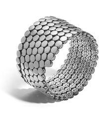 John Hardy - Dot Silver Multiple Coil Bracelet - Lyst