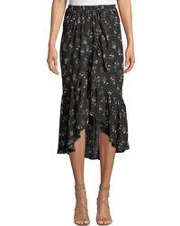 Bobeau - Emer Floral Chiffon Wrap Skirt - Lyst