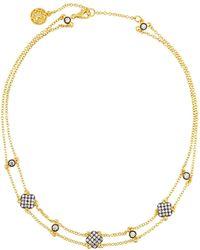 Freida Rothman - Double-row Pave Crystal Clover Station Choker Necklace - Lyst