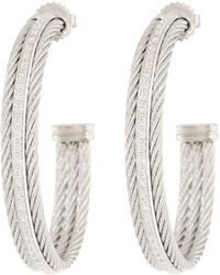 Alor - Classique Hoop Earrings W/ Diamond Center - Lyst