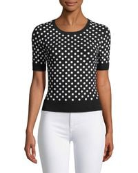 Michael Kors - Sequined Short-sleeve Sweater - Lyst