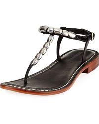 Bernardo - Tristan Studded Flat Sandal - Lyst