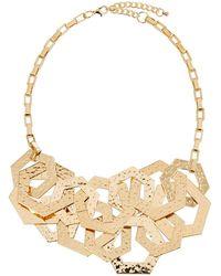 Kenneth Jay Lane - 2-row Hexagonal-link Necklace - Lyst