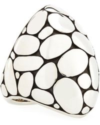 John Hardy - Silver Kali Marquise Dome Ring - Lyst