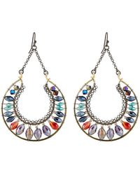 Nakamol - Bright Crescent Crystal Dangle Earrings - Lyst