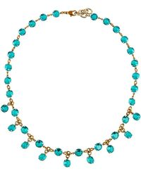 Lulu Frost - Vaulted Crystal Dangle Necklace - Lyst