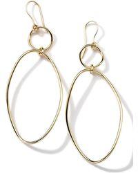 Ippolita - 18k Gold Glamazon Simple Wavy Snowman Earrings - Lyst