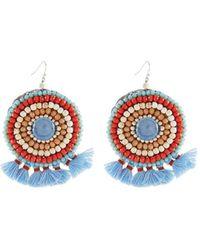 Nakamol - Mini Tassel Circle Drop Earrings - Lyst