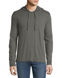 02a628461e3 Vince - Men s Double Layer Hoodie - Lyst