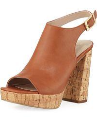 Charles David - Imani Cork Platform Sandals - Lyst