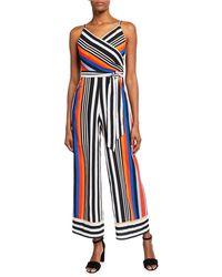 466a949791f Lyst - Nicole Miller Caroline Waist Tie Jumpsuit in Natural