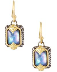 Armenta - Old World Emerald-cut Drop Earrings - Lyst
