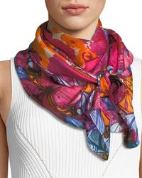 Neiman Marcus - Silk Vintage Floral Scarf - Lyst