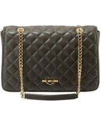 Love Moschino - Slim Quilted Chain Shoulder Bag - Lyst