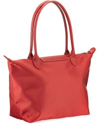1ea6cdfc82 Longchamp Le Pliage Neo Large Tote Bag in Black - Save 5% - Lyst