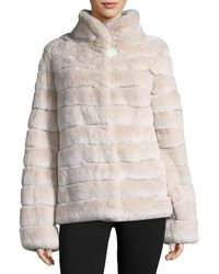 Gorski - Rabbit Fur Coat - Lyst