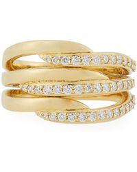 Penny Preville - 18k Diamond Triple Crescent Ring - Lyst