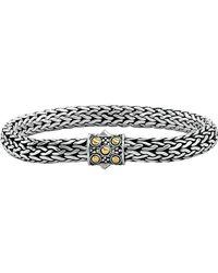 John Hardy - Small Sterling Silver Oval Chain Bracelet - Lyst
