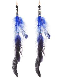 Nakamol - Long Beaded-feather Drop Earrings - Lyst