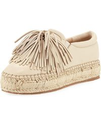 J/Slides - Raoul Leather Fringe Espadrille - Lyst