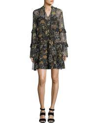 Robert Rodriguez | Floral-print Tiered Ruffled Dress | Lyst