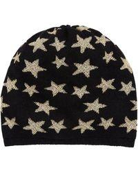 Portolano - Jersey Star Intarsia Boyfriend Hat - Lyst