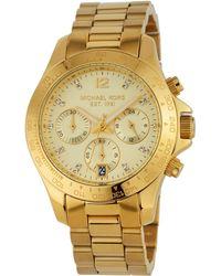 c0eff230f0d2 MICHAEL Michael Kors - 40mm Layton Chronograph Watch Golden - Lyst